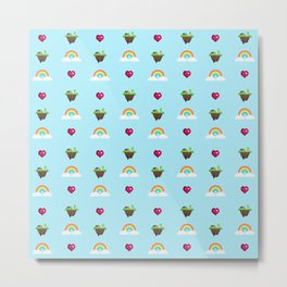Somewhere Over The Rainbow pattern Metal Print