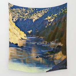 Rio Grande at the John Dunn Bridge on a Winters Day by CheyAnne Sexton Wall Tapestry