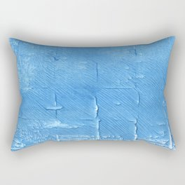 Blue Jeans abstract watercolor Rectangular Pillow