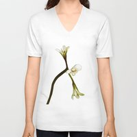free shipping V-neck T-shirts featuring wild geranium - Free shipping by Ordiraptus