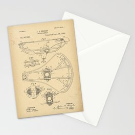 1896 Patent Bicycle saddle Stationery Cards
