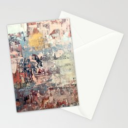 Mirage [1]: a vibrant abstract piece in pinks blues and gold by Alyssa Hamilton Art Stationery Cards