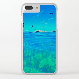Walking on Water Clear iPhone Case