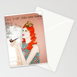 CECI N'EST PAS UNE MERDE Stationery Cards