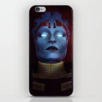 mass effect iPhone & iPod Skins featuring Mass Effect: Samara by Ruthie Hammerschlag