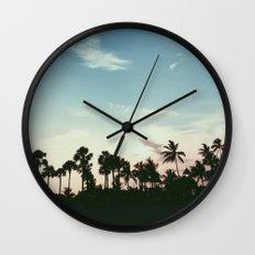 Sunset on the Beach Wall Clock