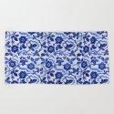 Azulejos blue floral pattern by catyarte