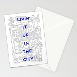 Livin' It Up In The City Stationery Cards