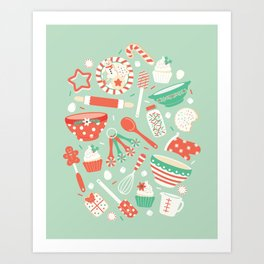 Christmas Baking Art Print