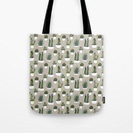 Watercolour cacti & succulents - Beige Tote Bag