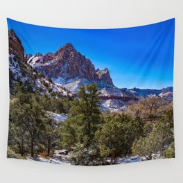 The_Watchman - Winter in Zion_National_Park, UT Wall Tapestry