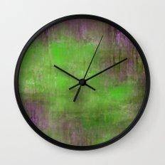 Green Color Fog Wall Clock