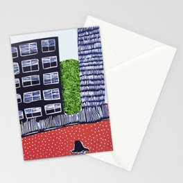 Town by night Stationery Cards