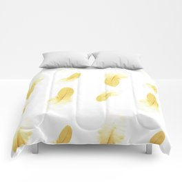 gold feather pattern Comforters