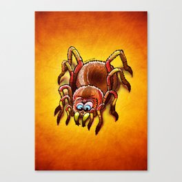 Tarantula Sinking its Fangs into Fresh Flesh Canvas Print
