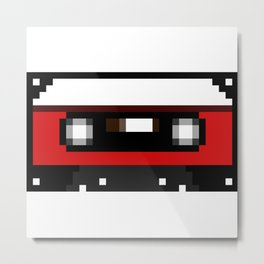 Red Cassette Metal Print