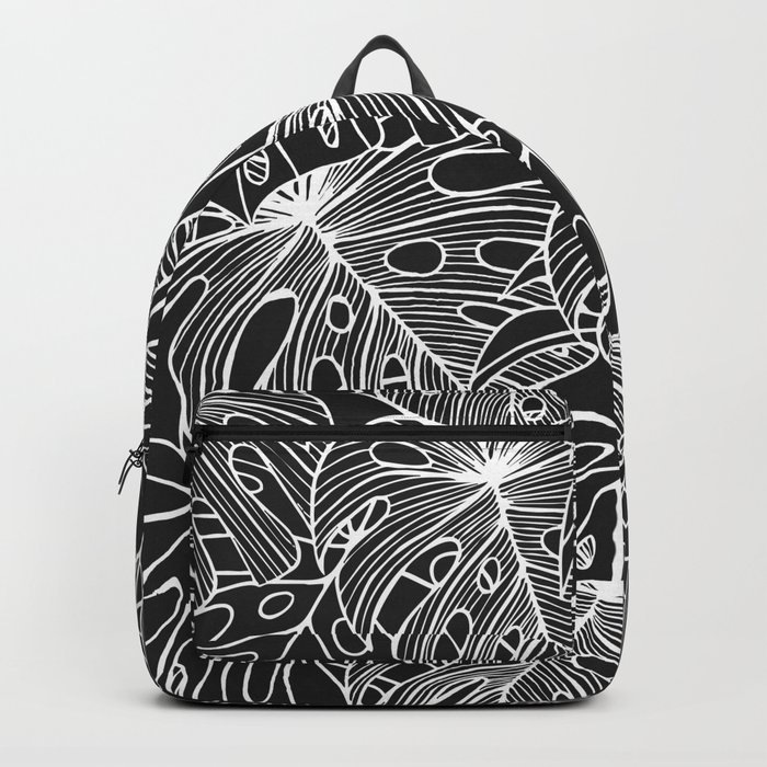 B&W Philodendron Backpack