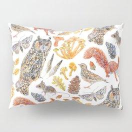 Autumn Wildlife Pattern Pillow Sham