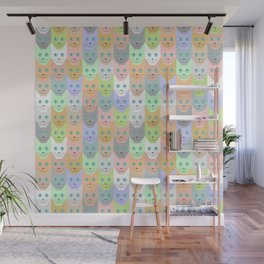 Pastel cats Wall Mural