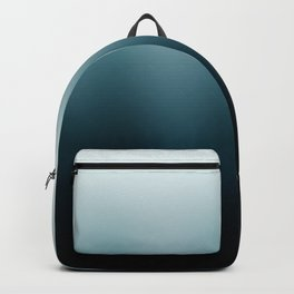 Ombre black Teal Green Gradient Backpack