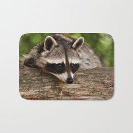 Adorable Raccoon Photo Bath Mat