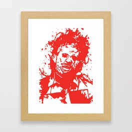 August 18, 1973: Bloodstain Leatherface (color combination H) Framed Art Print