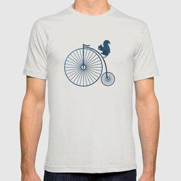 Squirrel on a high wheel T-shirt