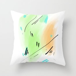 Abstract sunrise S1 Throw Pillow