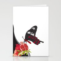 ruby Stationery Cards featuring Ruby by Anne  Martwijit