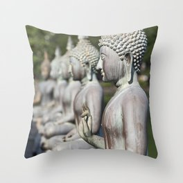 Buddha Statues, Sri Lanka Throw Pillow