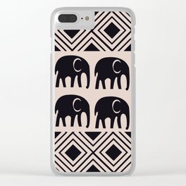 African Tribal Pattern No. 4 Clear iPhone Case