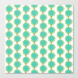 Flower Stripes Canvas Print