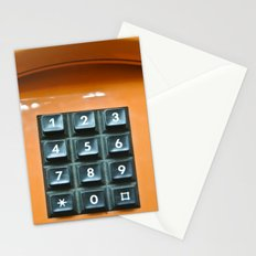 Orange phone Stationery Cards