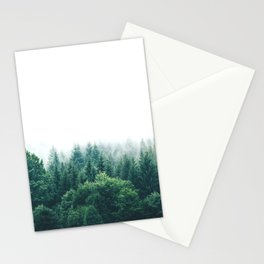 Cold Nordic Forest Sky Stationery Cards