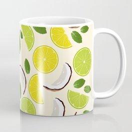 Lime Lemon Coconut Mint pattern Coffee Mug