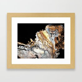 Silver clouds Framed Art Print