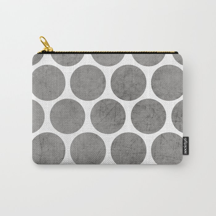 gray polka dots Carry-All Pouch