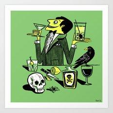 Drinks With The Mad Scientist Next Door Art Print