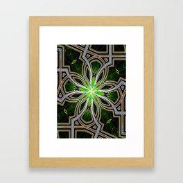 Stain glass Star window* Framed Art Print