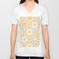 pivot V-neck T-shirts featuring Pivot Star Pattern  by Pivot Interiors