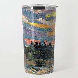 12,000pixel-500dpi - Tom Thomson - Sunset, Canoe Lake - Digital Remastered Edition Travel Mug
