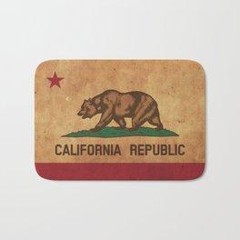 California Republic Vintage Flag Bath Mat