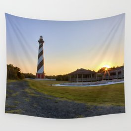 Cape Hatteras Lighthouse at Sunset Wall Tapestry
