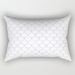Mermaid Scales in Purple Rectangular Pillow
