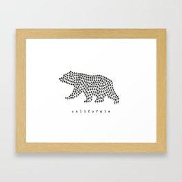 California Bear Illustration Framed Art Print