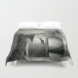 The Owl and the Witch Duvet Cover