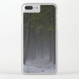 Foggy forest path. Clear iPhone Case