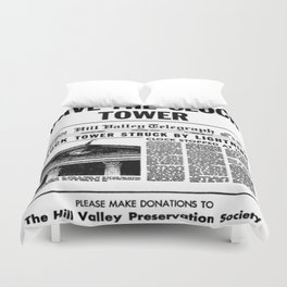Save the Clock Tower Duvet Cover
