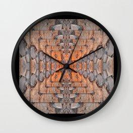 Petrified Wood In Focus Wall Clock