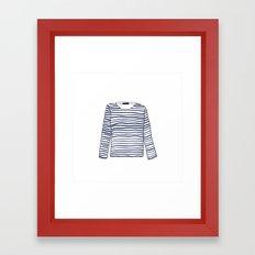 Sailor Tee - Navy Framed Art Print